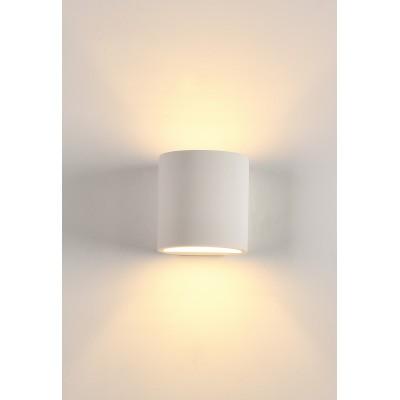 APPLIQUE PORTALAMPADA LED DA MURO G9 11X10X10 CM IN RESINA DI GESSO W3134