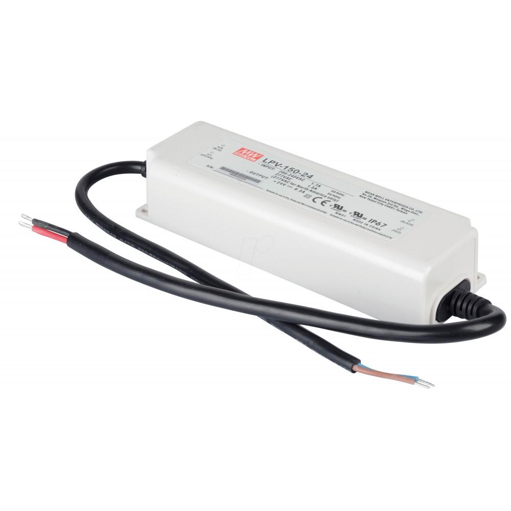 ALIMENTATORE 150 W 6.3 A 220V 24 V DC WATERPROOF IP67 MEANWELL LPV-150-24