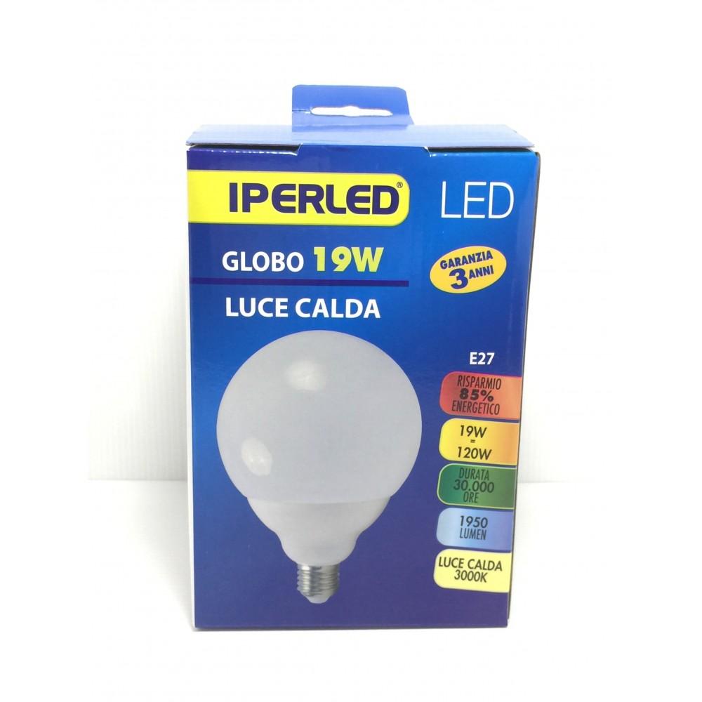 LAMPADA LED 19 W GLOBO G120 E27 IPERLED LUCE A SCELTA