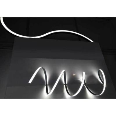 PROFILO FLESSIBILE IN ALLUMINIO LP1050 PER STRISCE LED 2 MT COPERTURA OPACA