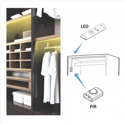 ILLUMINAZIONE A LED CON SENSORE DI MOVIMENTO (CON BATTERIA  ALL'INTERNO)