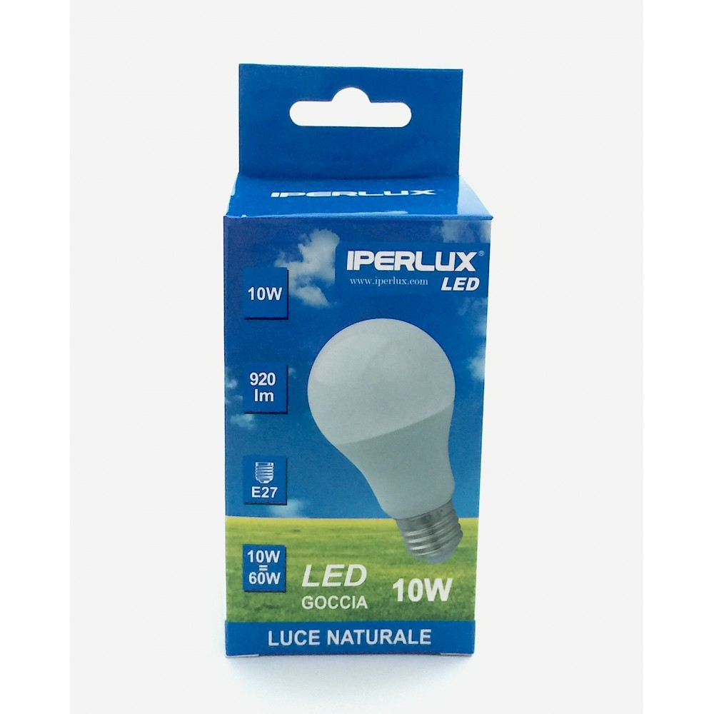 LAMPADINA IPERLUX  LED 10 W E27 LUCE BIANCA A SCELTA ANG. 240°