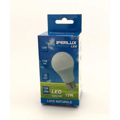 LAMPADINA IPERLUX  LED 12 W E27 LUCE BIANCA A SCELTA ANG. 240°