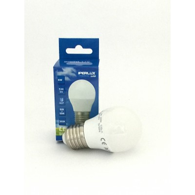 LAMPADINA LED E27 6 W G45 MINIGLOBO IPERLUX COLORE LUCE A SCELTA