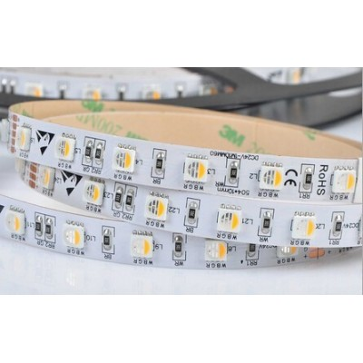 5 METRI STRISCIA 300 LED 5050 SMD RGB + WARM WHITE PER INTERNO IP20 24 V DC