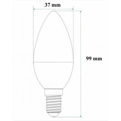 LAMPADINA E14 LED 6 W OLIVA IPERLUX LUCE A SCELTA