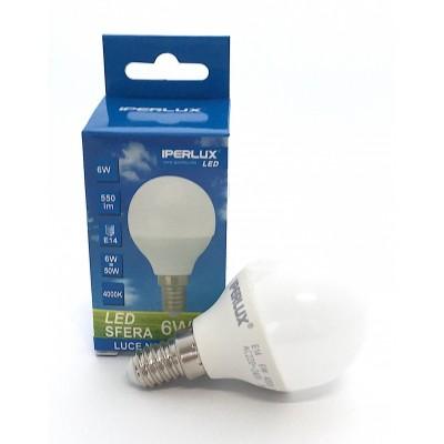 LAMPADINA LED E14 6 W P45 MINIGLOBO IPERLUX COLORE LUCE A SCELTA