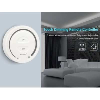 CONTROLLER REMOTE RF DA PARETE PER STRISCE LED MONOCOLORE (DIST. 30MT) MI-LIGHT FUT087
