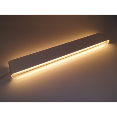 APPLIQUE DA PARETE ALLUMINIO BIANCO IP44 20 W LED INTERNO/ESTERNO WALL LIGHT