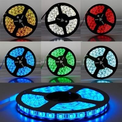 5 METRI STRISCIA 300 LED 5050 SMD RGB LUCE RGB ROSSO VERDE BLU PER ESTERNO IP65 12 V DC