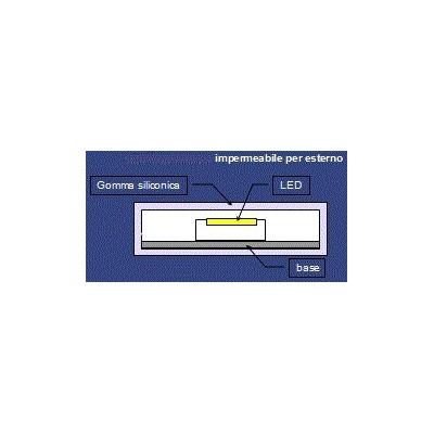 5 METRI STRISCIA 300 LED 5050 SMD WHITE 5 MT LUCE BIANCA FREDDA WATERPROOF IP68 PER IMMERSIONE 12 V DC