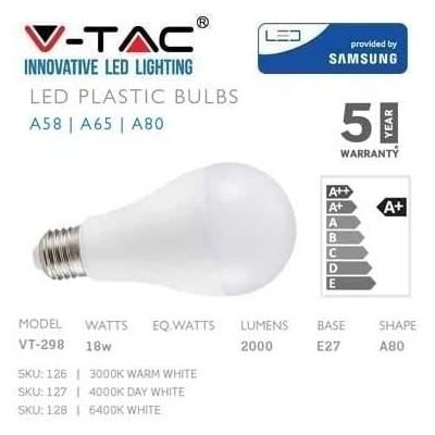 LAMPADINA LED 18 W E27 A80...