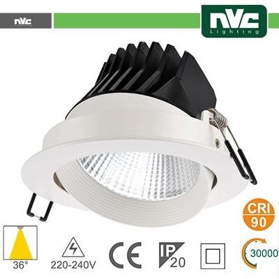 Faro direzionabile LED IP20 25W 4000K 1870LM 36° FORO:150mm