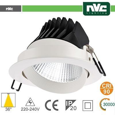 Faro direzionabile LED IP20 35W 4000K 2400LM 36° FORO:150mm