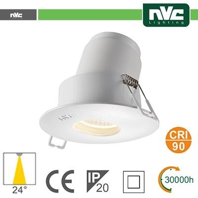 Faro direzionabile LED IP20 9W 3000K 700LM 24º FORO:95mm