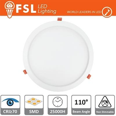 Downlight LED IP20 9W 6500K 650LM 110° FORO:135mm