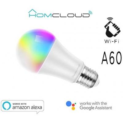 Lampadina Wi-Fi RGB+Bianco caldo E27 A60 dimmerabile