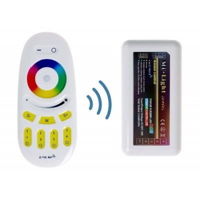 KIT MODULO DI CONTROLLO WIRELESS WIFI + TELECOMANDO RF (RGB)