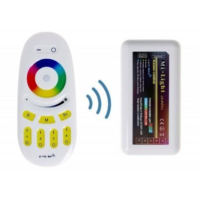 KIT MODULO DI CONTROLLO WIRELESS WIFI + TELECOMANDO RF (RGB)